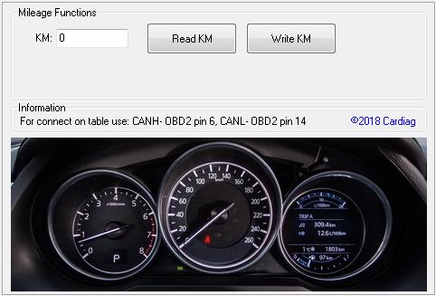 Mazda 6/CX5 2016+ OBD2...